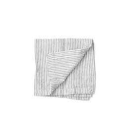 Not Perfect Linen B&W Stripes Linen Napkins