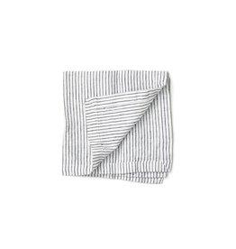 Not Perfect Linen B&W Stripes Linen Napkins