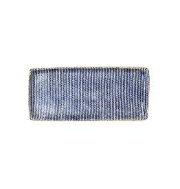 Terrafirma Ceramics Handmade Tray Cobalt Strata