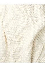 Zestt White Organic Cotton Knit Throw