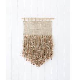 The Dharma Door Jute and Leather Fringe Wall Hanging