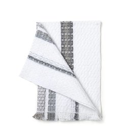 Rebekah Foote Handwoven Brookside Towel White + Gray