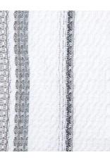 Rebekah Foote Handwoven Brookside Towel White + Gray