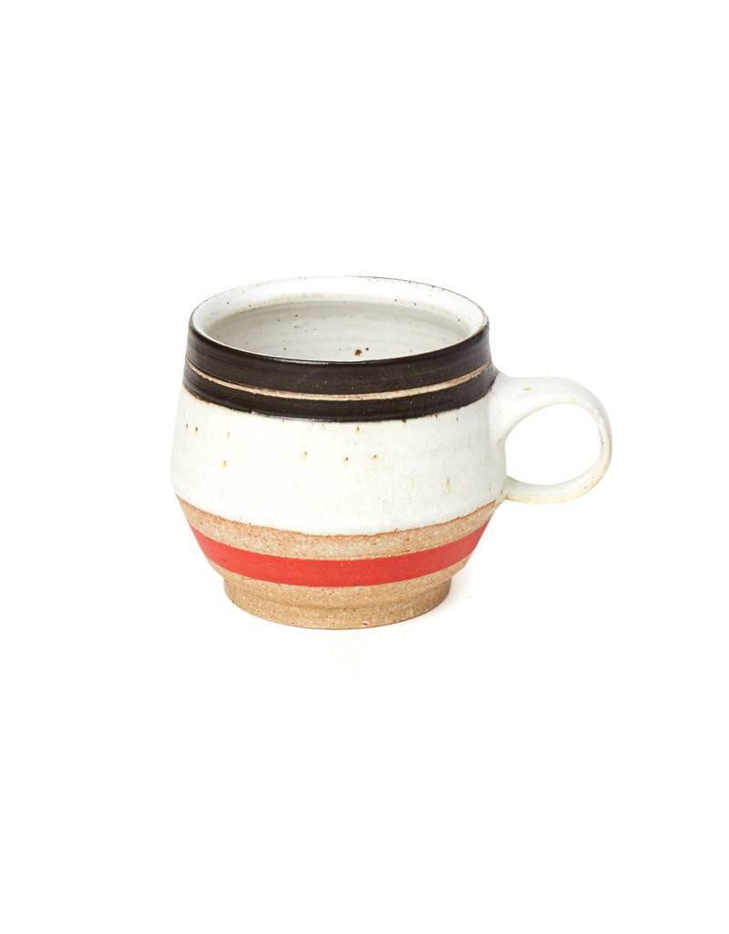 Veak Ceramics Ceramic Red & Black Mug