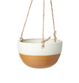 Veak Ceramics Gold + Clay Hanging Planter