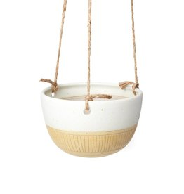 Veak Ceramics Yellow + Clay Hanging Planter