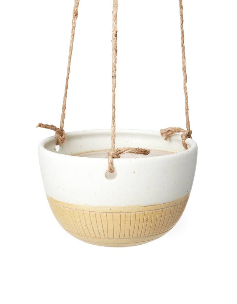 Veak Ceramics Yellow + Clay Hanging Planter