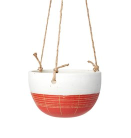 Veak Ceramics Red + Clay Hanging Planter