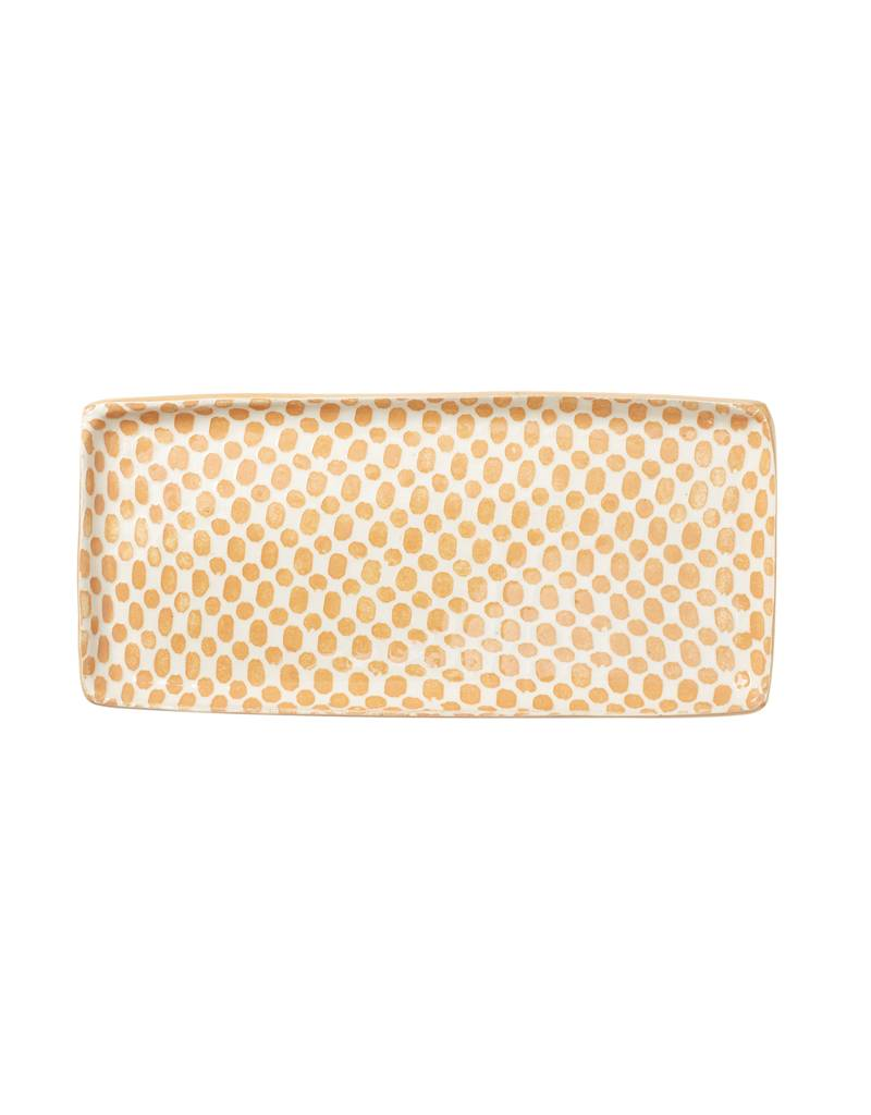 Terrafirma Ceramics Handmade Tray Dot Apricot