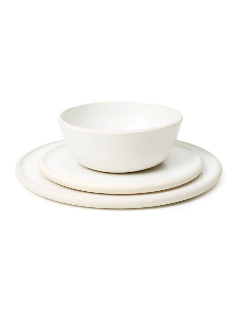 Sheldon Ceramics Silverlake Low Bowl Classic White