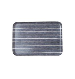 Fog Linen Navy Border Linen Tray, Large