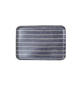 Fog Linen Navy Border Linen Tray, Medium
