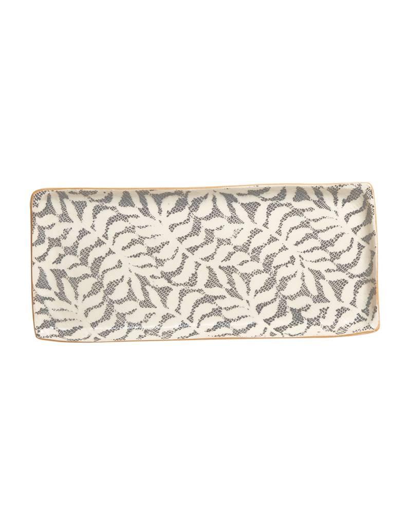 Terrafirma Ceramics Handmade Tray Fern Charcoal