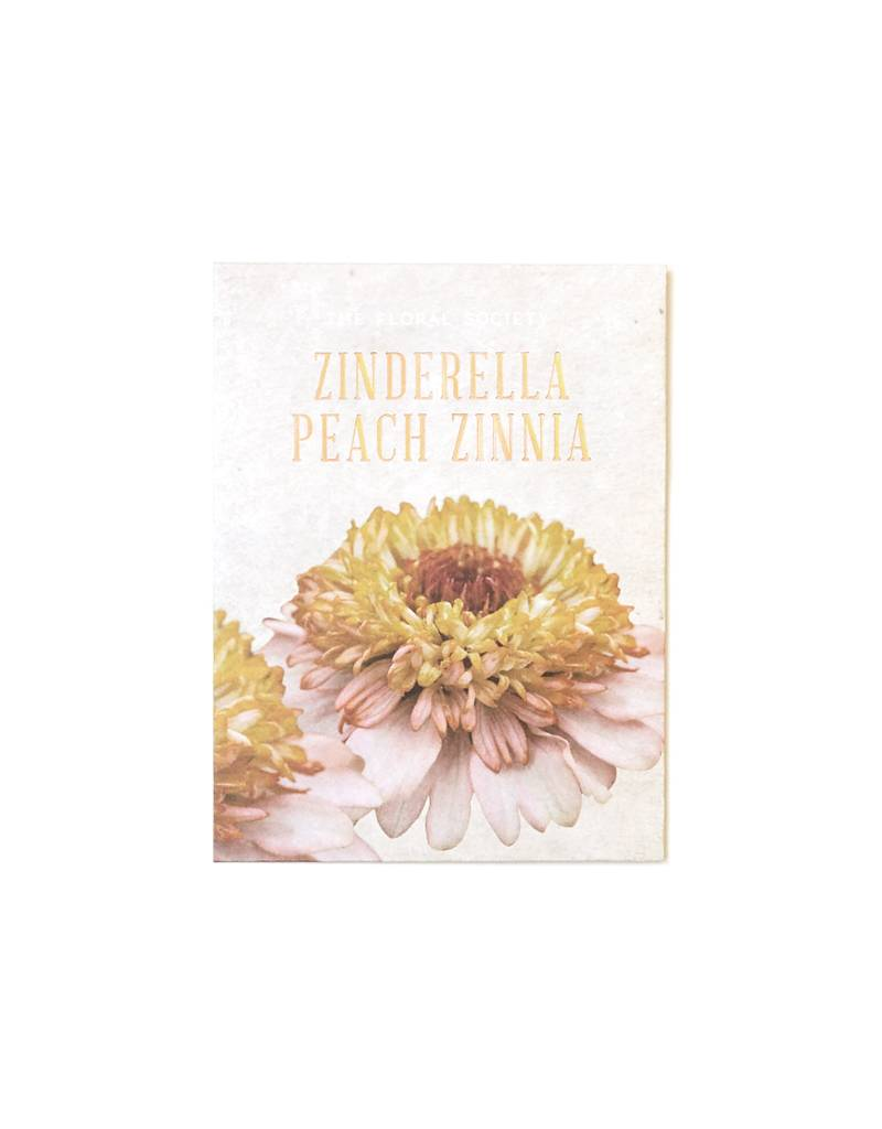 The Floral Society Zinderalla Peach Zinnia Seeds
