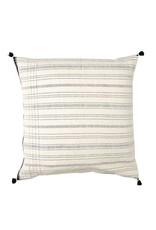 Injiri Stella White and Black Stripe Pillow