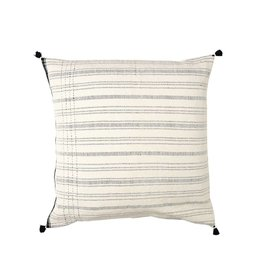 Injiri Stella White and Black Stripe Pillow