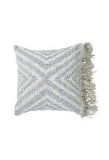 Wayil Recycled Denim Geo Fringe Pillow