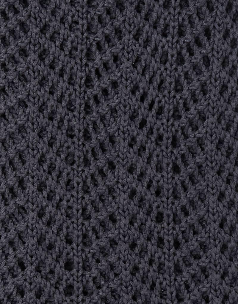 Zestt Dark Gray Organic Boho Knit Throw