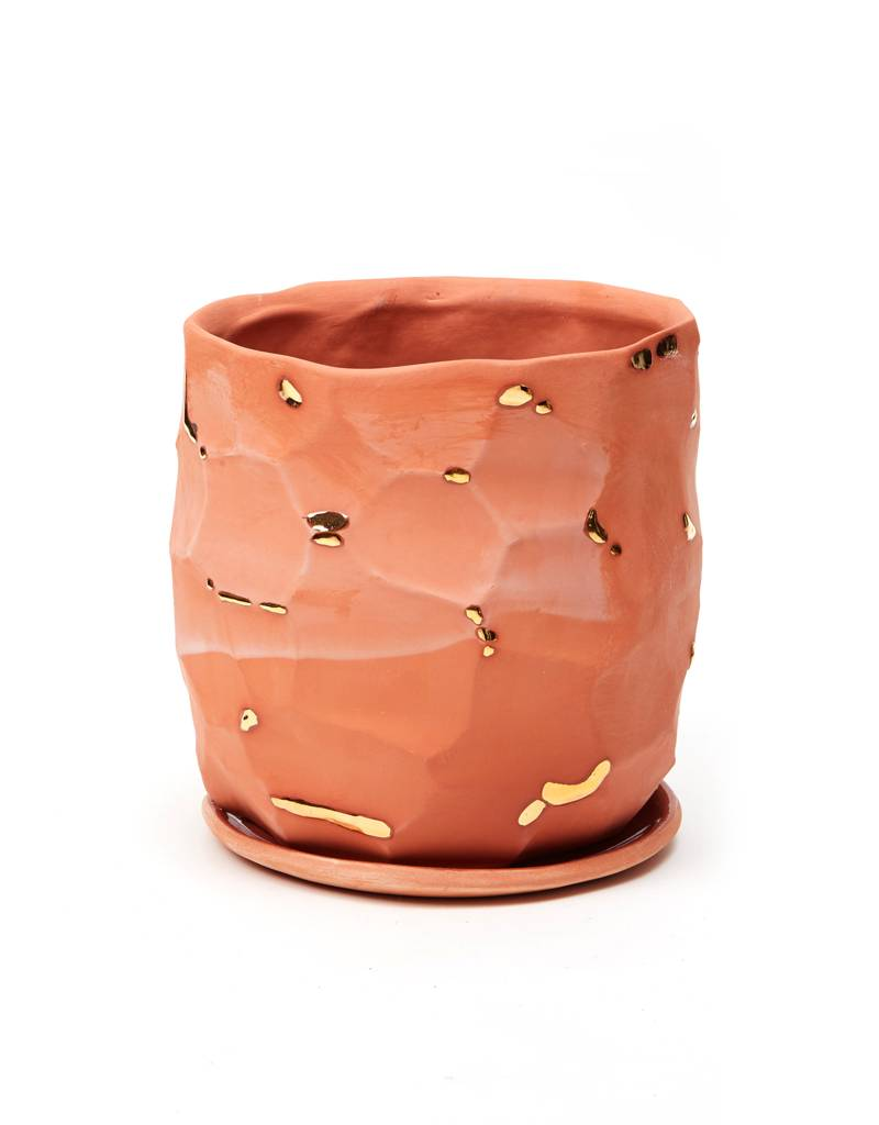 The Object Enthusiast Terracotta Faceted Vessel No. 6