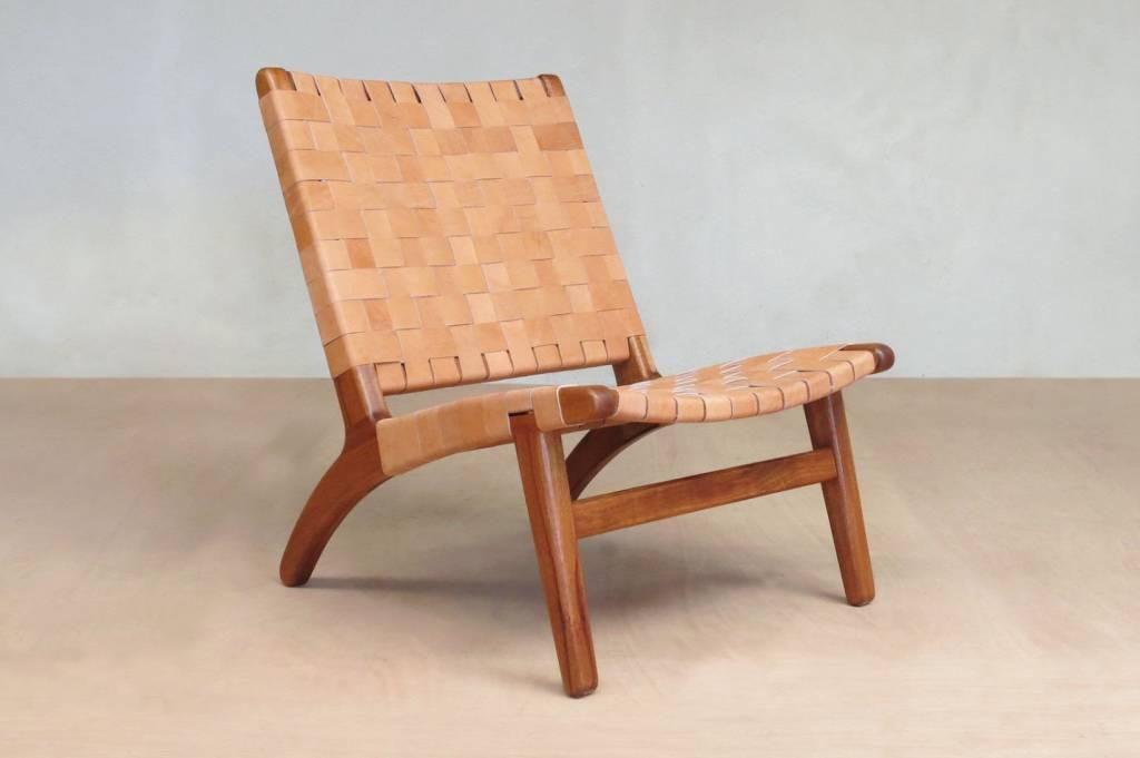 Masaya & Co Mahagony & Leather Lounge Chair