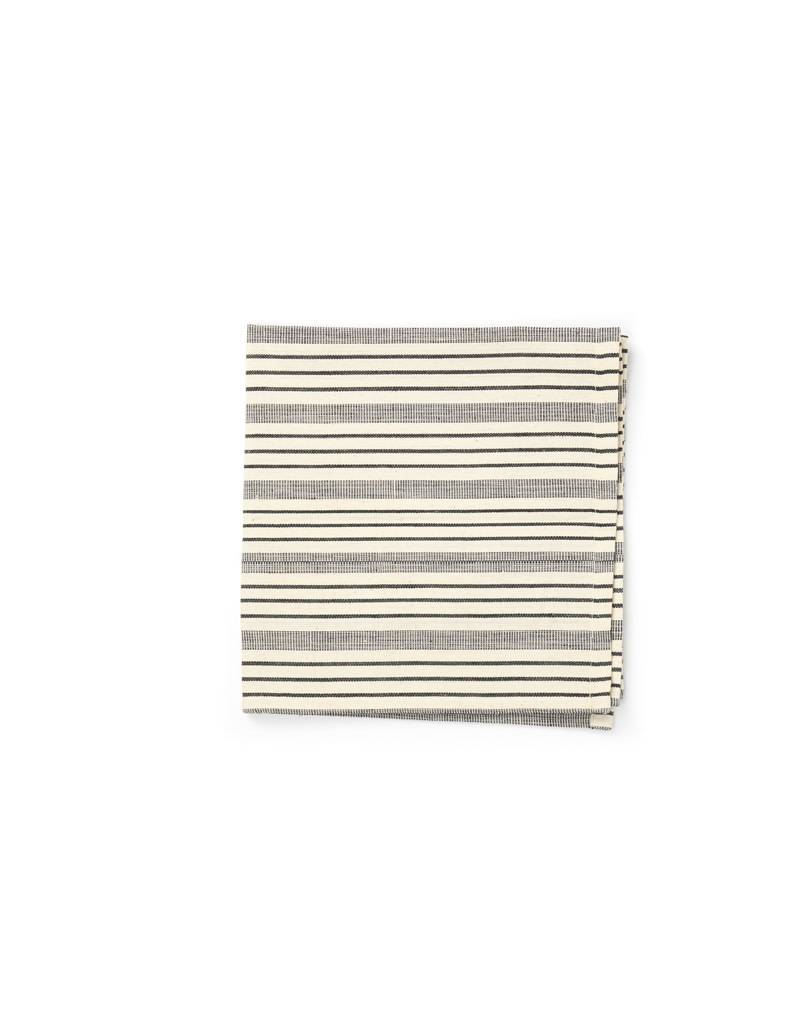 Tensira Handwoven Napkins S/4 Black Varied Stripes