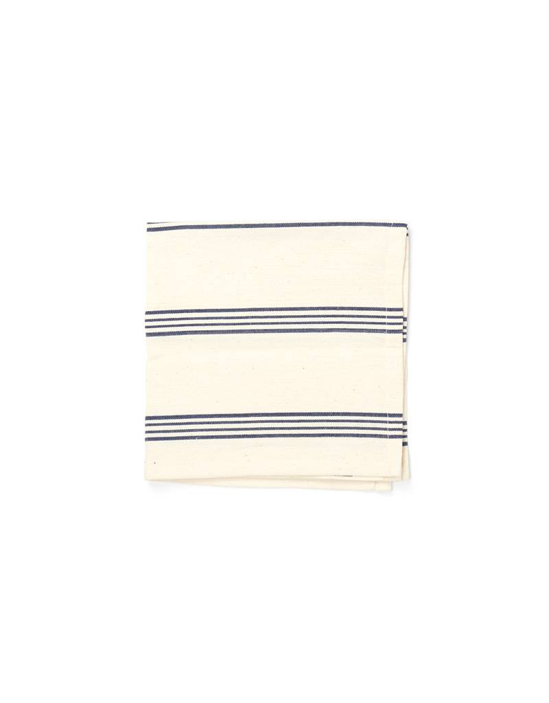 Tensira Handwoven Napkins S/4 Navy Blue Wide Stripes