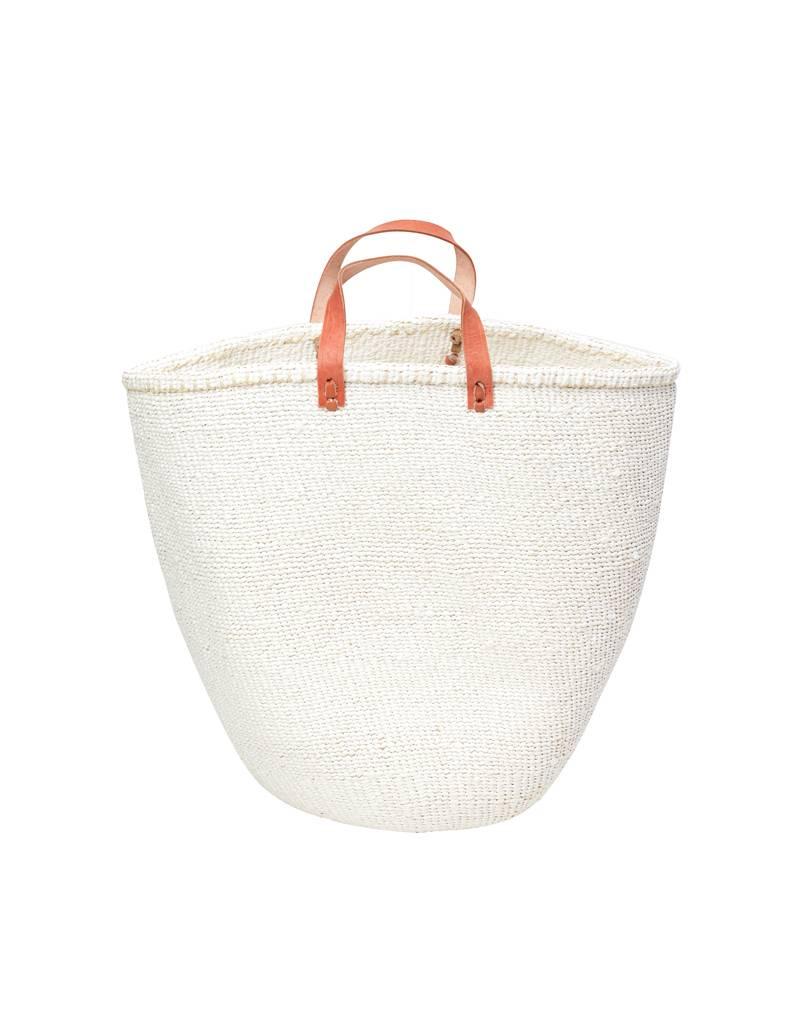 Mifuko Kiondo Basket White Large