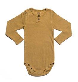 KidWild Organics Organic Vintage Long Sleeve Bodysuit- Ochre