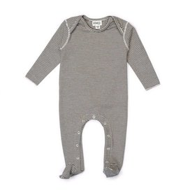 KidWild Organics Organic Footed Jumpsuit- Stripe