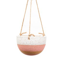 Veak Ceramics Ceramic Hanging Planter-Pink