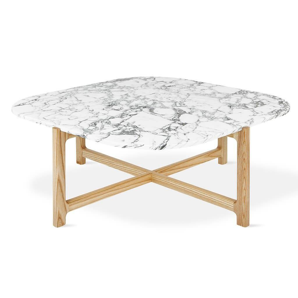 Gus Modern Quarry Coffee Table -Bianca Marble