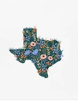 Rifle Paper Co Texas Wildflower Art Print by Rifle Paper Company