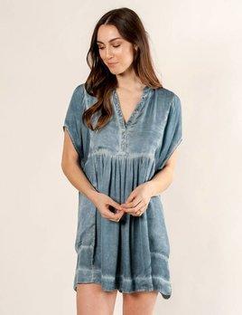 Free People Blue Rowan Mini Dress