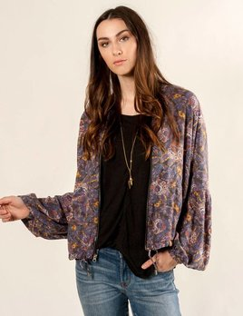 Free People Free People - Printed Bell Sleeve Jacket