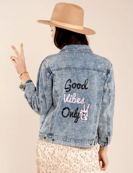 Honey Punch Good Vibes Only Jacket