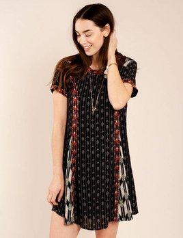 THML Black Arrow Print Dress