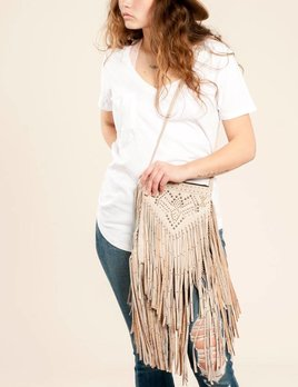 Cleobella Dusk Crossbody Bag in Ivory