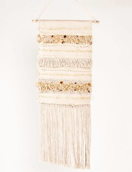 Karma Living 4 Golden Coins Macrame Wall Hanging