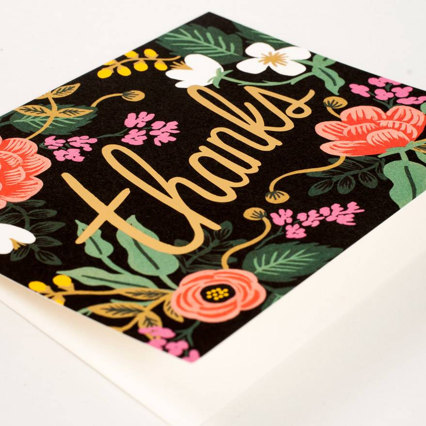 Rifle Paper Co Birch Floral Thank You Card