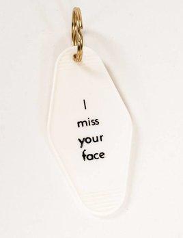 He Said She Said I Miss Your Face Keychain