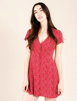 Goldie London Tea Dress Red