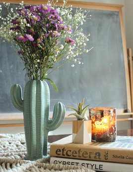 Creative Co Op Small Sage Cactus Vase