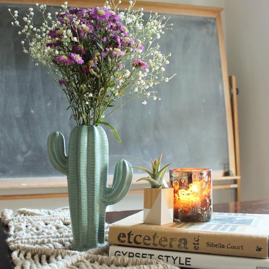 Creative Co Op Small Sage Cactus Vase