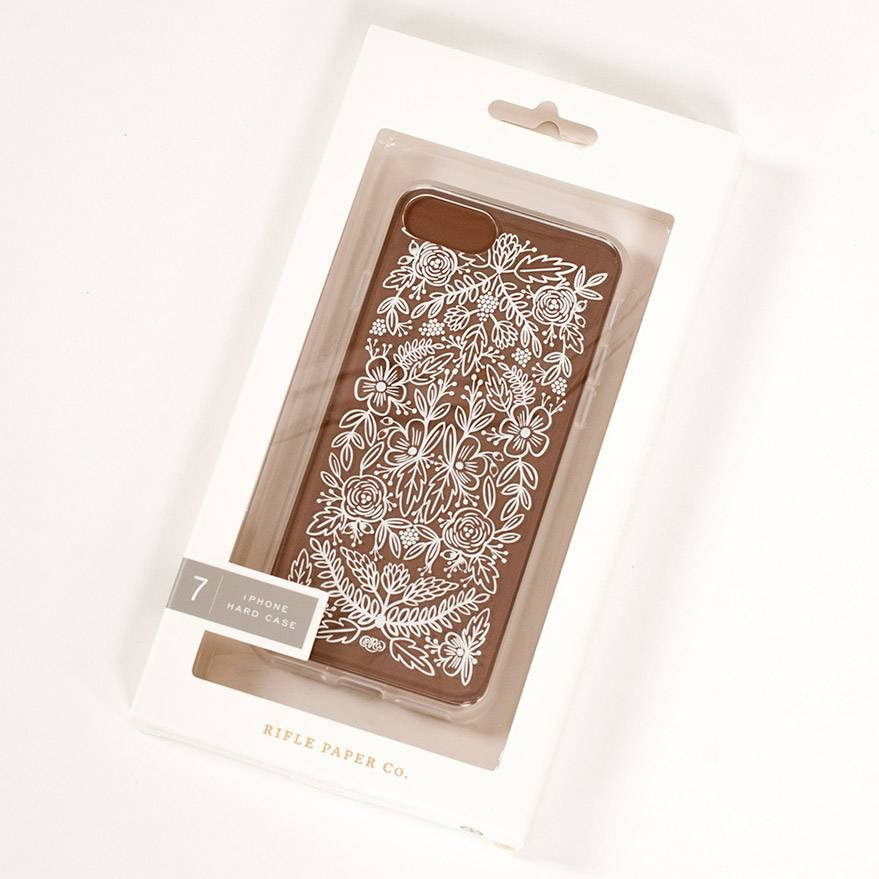 Rifle Paper Co Clear Floral Lace iPhone 7 Case