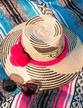 Guadalupe Pom Printed Hat