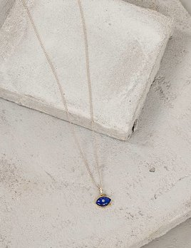 Heather Hawkins Lapis Eye Necklace