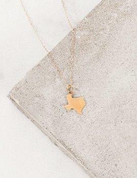 Farrah B Solid Texas Charm Necklace
