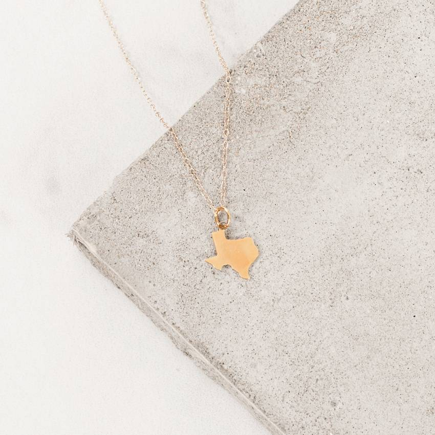 Farrah B Solid Texas Charm Necklace from Farrah B. Jewelry