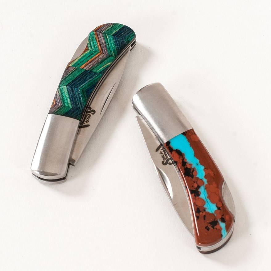 Santa Fe Stoneworks Turquoise Lockback Knife
