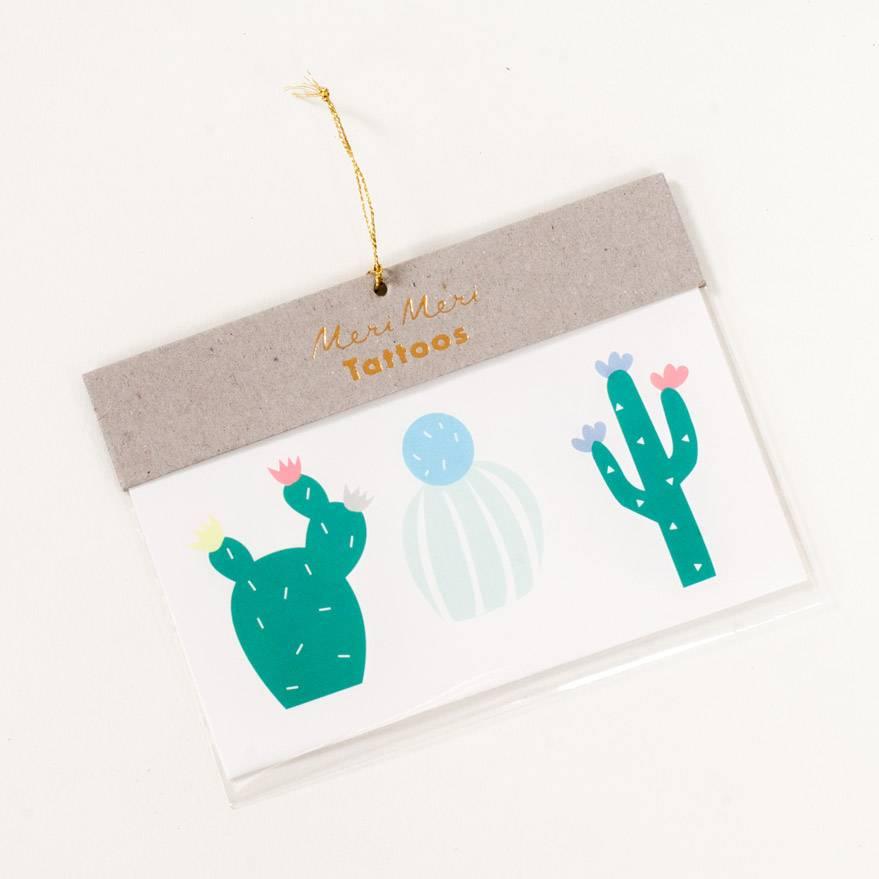 Meri Meri Cactus Tattoos
